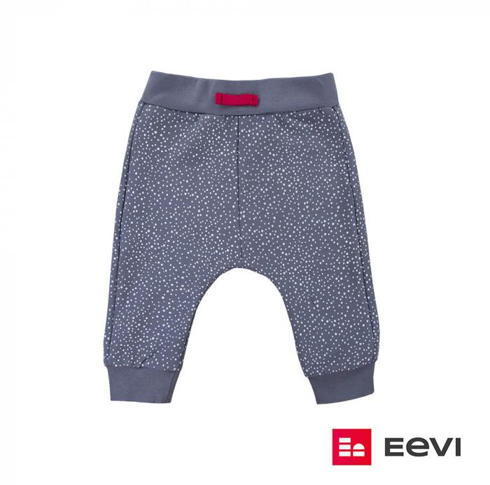 Pantalon trening fete_Gri cu buline_Girl Power 0
