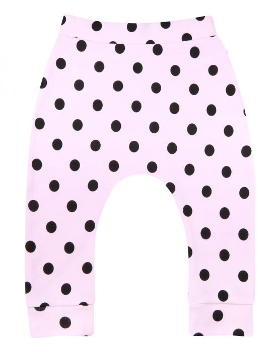 Pantalon trening, Roz cu buline negre 0