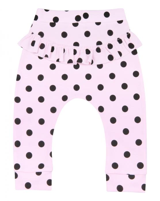 Pantalon trening, Roz cu buline negre 1