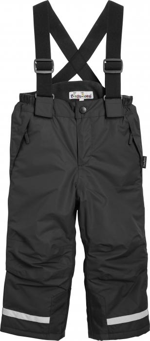 Pantalon zapada, impermeabil, bretele detasabile, unisex, Negru 0
