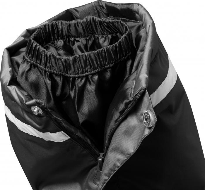 Pantalon zapada, impermeabil, bretele detasabile, unisex, Negru 4