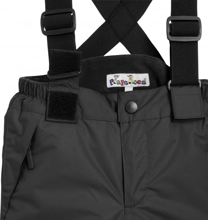 Pantalon zapada, impermeabil, bretele detasabile, unisex, Negru 2