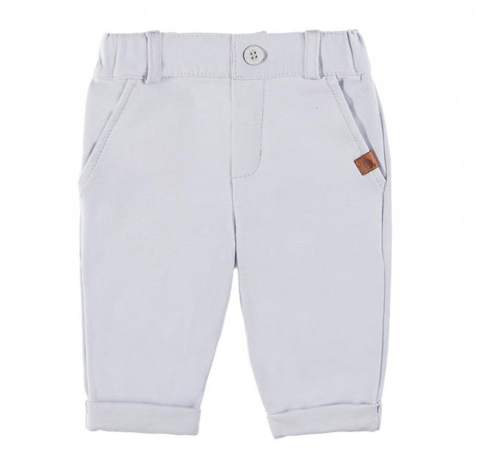 Pantalon lung cu buzunare, bumbac 100%, Gri, Ceremony [2]