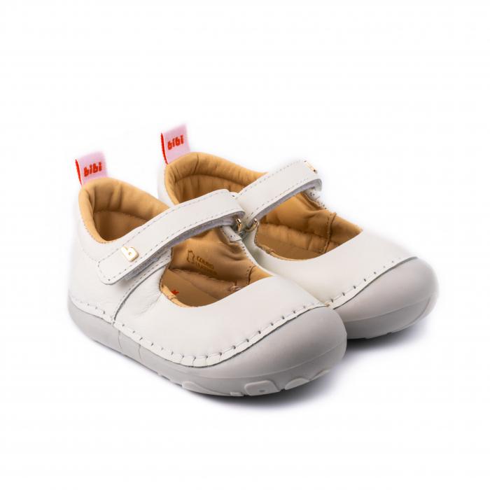 Pantofi piele, fete, Alb, Grow [0]