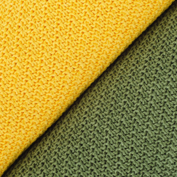 PATURICA CROSETATA BUMBAC 50%, BAMBUS 50 % 100*80 - verde inchis 1