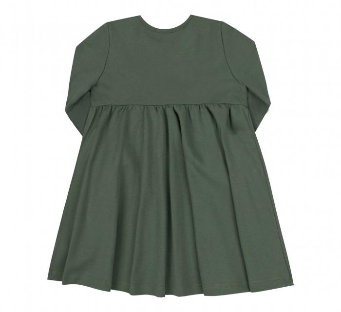 Rochie cu maneca lunga, bumbac 100%, Verde [1]