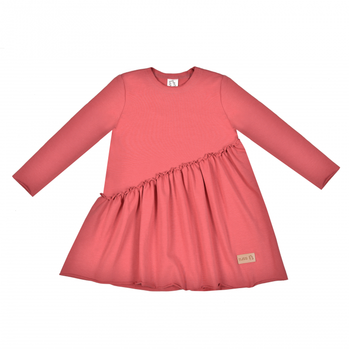 Rochie cu maneca lunga, fete, Coral, Mexica [0]