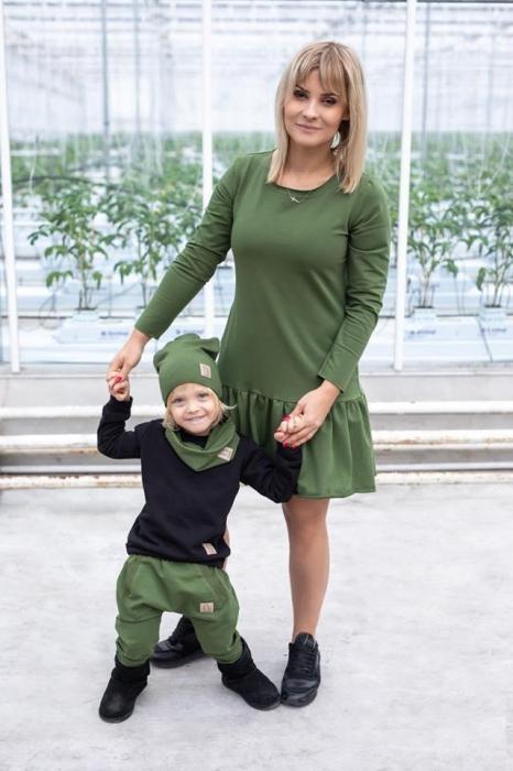 Rochita maneca lunga Verde/Kaki 1