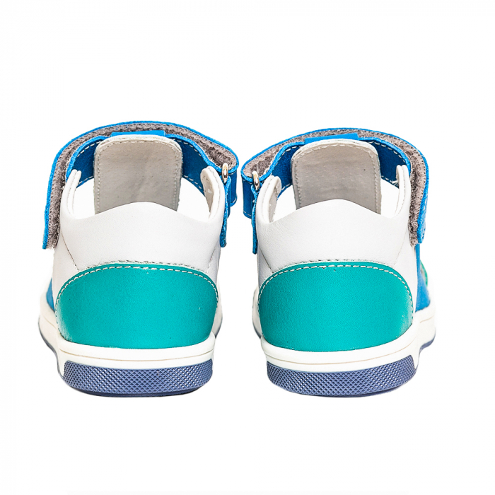 Sandale piele, albastru/gri, baieti, PABLO 3