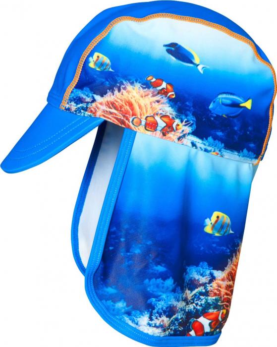 Sapca soare cu protectie UV 50+, baieti, Albastru, Underwater [0]