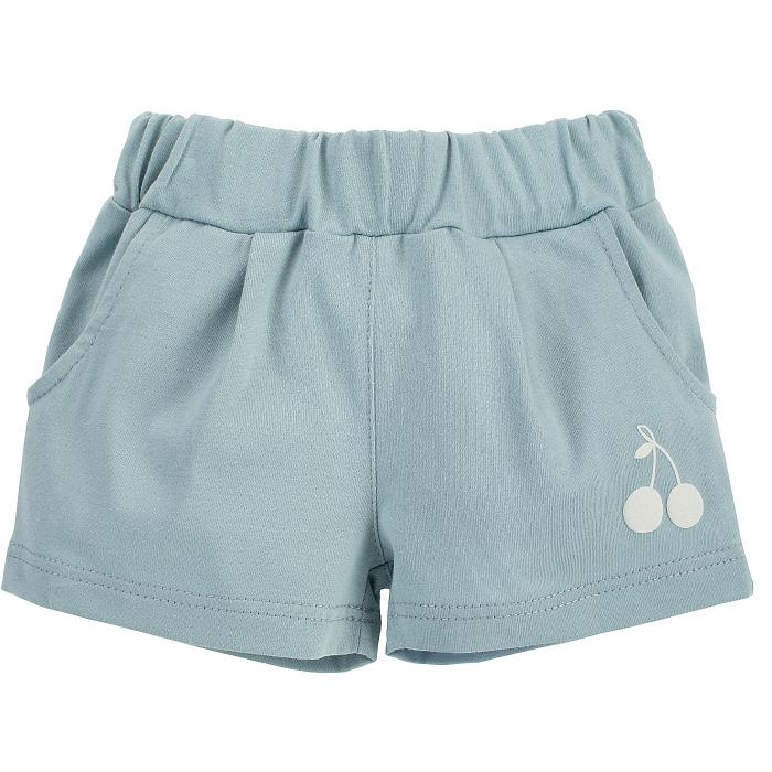 Pantalon scurt cu buzunare, bumbac 100%, fete, Verde menta, Sweet Cherry [0]
