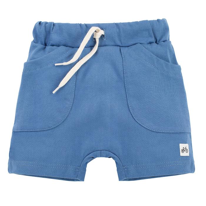 Pantalon scurt cu buzunare, bumbac 100%, baieti, Albastru, Summertime [0]