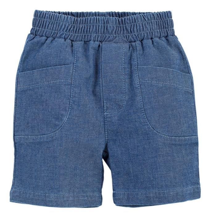 Pantalon scurt cu buzunare, jeans, baieti, Albastru, Summertime [0]