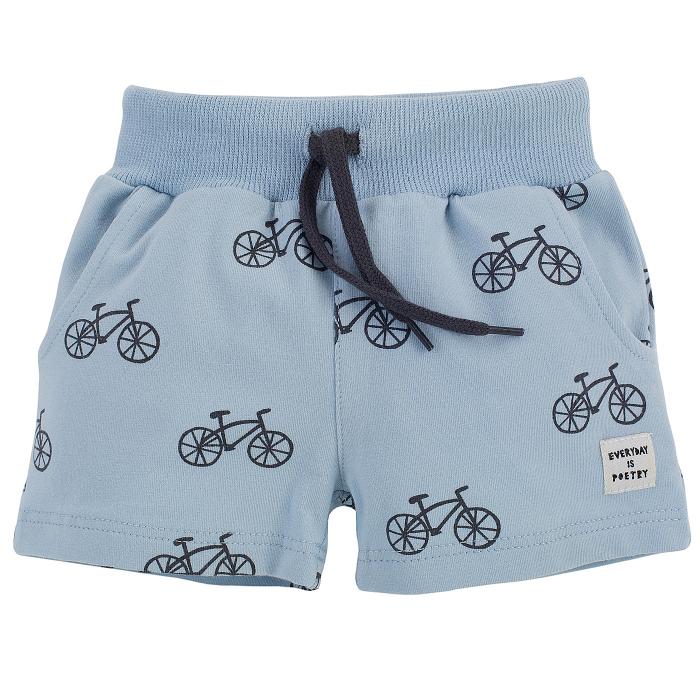 Pantalon scurt cu buzunare, baieti, Albastru/Biciclete, Summertime [0]