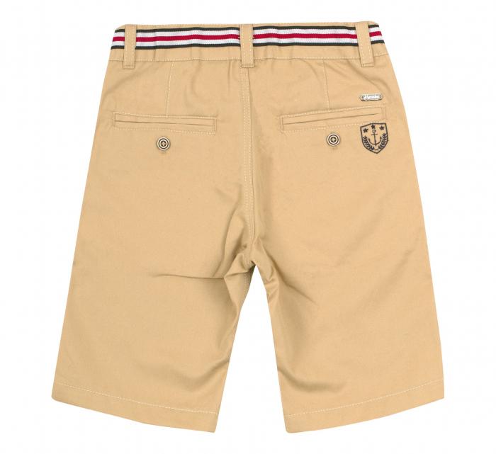 Pantalon casual 3/4 cu buzunare, bumbac 100%, baieti, Bej/Ancora [1]
