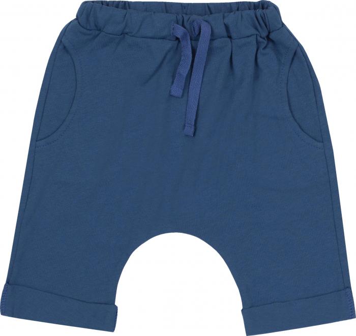 Pantalon 3/4 subtire, cu buzunare, bumbac 100%, baieti, Albastru [0]