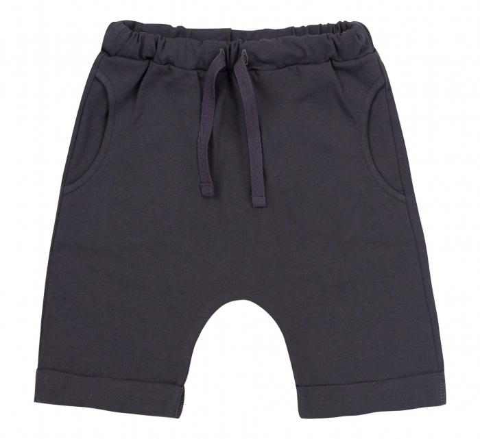 Pantalon 3/4 subtire, cu buzunare, bumbac 100%, baieti, Gri inchis [0]
