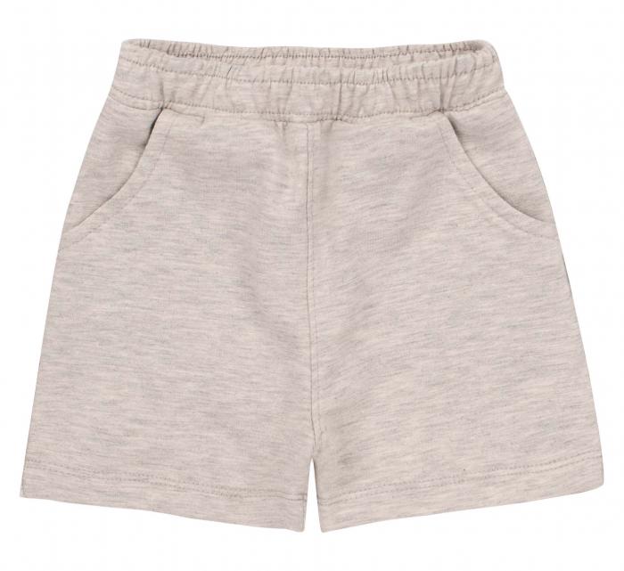 Pantalon scurt cu buzunare, baieti, Gri deschis [0]
