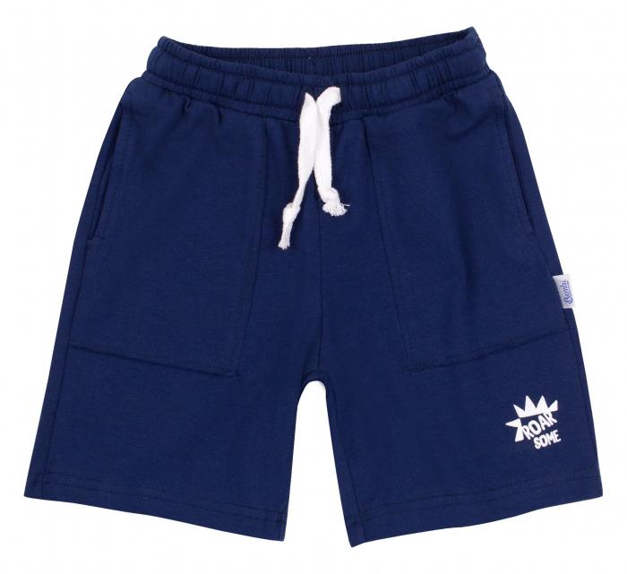 Pantalon scurt 3/4, cu buzunare, baieti, Bleumarin [0]