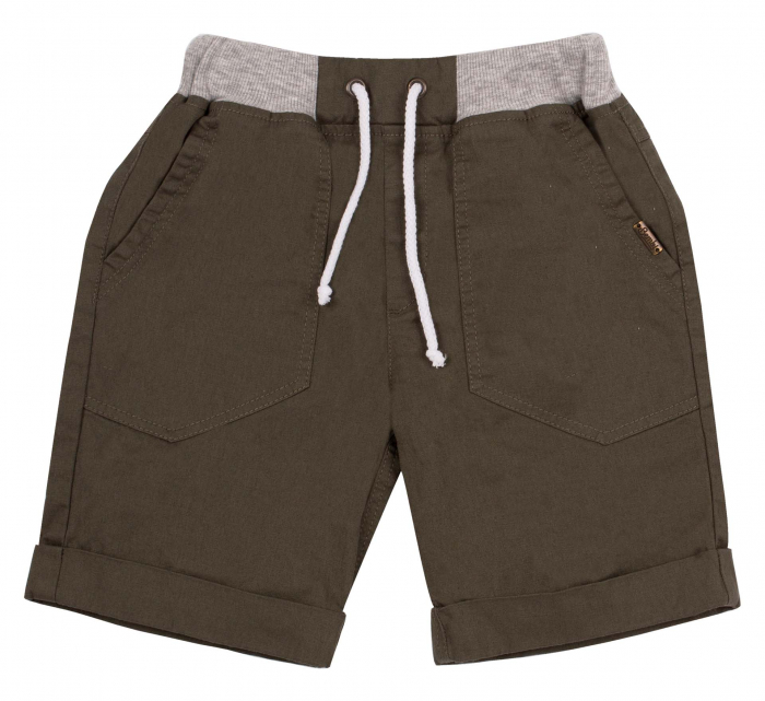 Pantalon scurt 3/4 cu buzunare, bumbac 100%, baieti, Kaki [0]