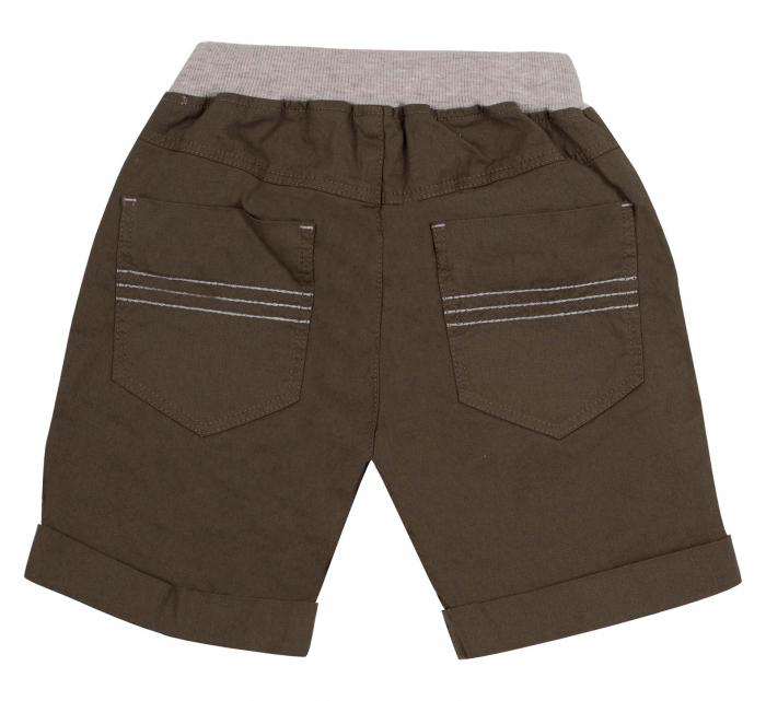 Pantalon scurt 3/4 cu buzunare, bumbac 100%, baieti, Kaki [1]