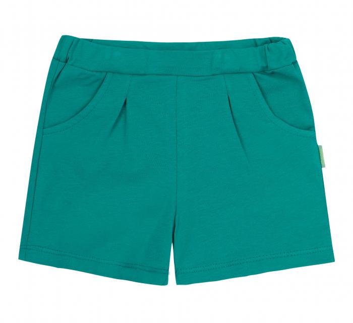 Pantalon scurt cu buzunare, bumbac 100%, fete, Verde intens [0]