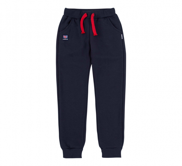 Pantalon trening cu buzunare, baieti, Bleumarin/Red bus [0]