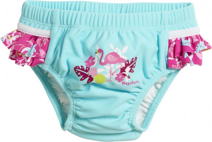 Slip de baie tip chilot, protectie UV 50+_fete_Turcoise/Flamingo [0]