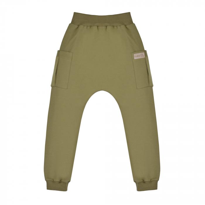 Pantalon trening cu buzunare, baieti, Verde/Kaki 0