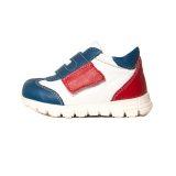 Pantofi sport din piele, talpa flexibila, baieti, Alb/Albastru/Rosu, Tokyo Mix 1