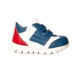 Pantofi sport din piele, talpa flexibila, baieti, Alb/Albastru/Rosu, Tokyo Mix 2