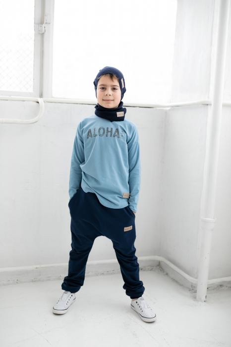 Pantalon lung cu buzunare, baieti, Bleumarin, Seven Heaven [1]