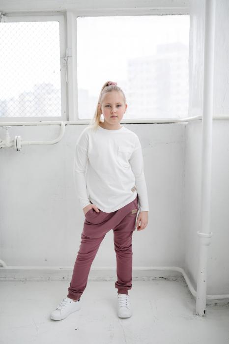 Pantalon lung cu buzunare, fete, Violet, Seven Heaven 1
