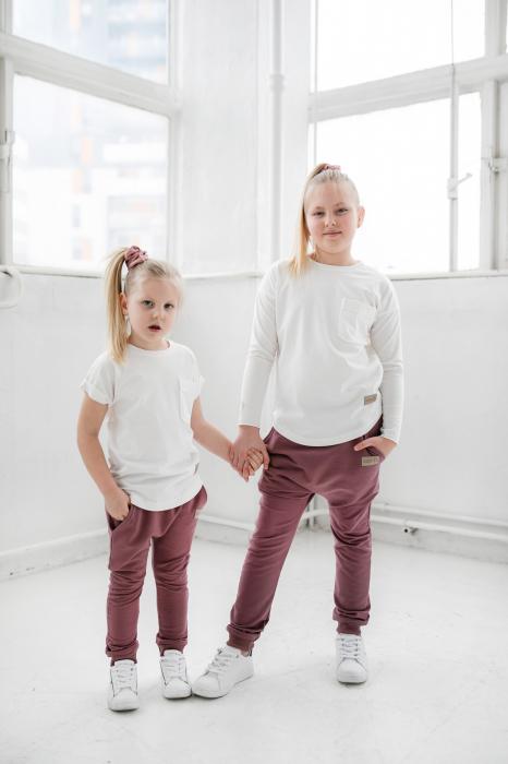 Pantalon lung cu buzunare, fete, Violet, Seven Heaven 2