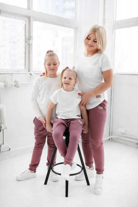 Pantalon lung cu buzunare, fete, Violet, Seven Heaven 3