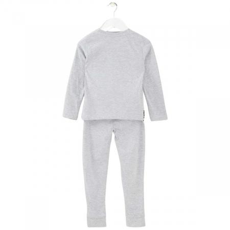 Pijama cu maneca lunga, doua piese, bumbac 100%, baieti, Gri, Star Wars1