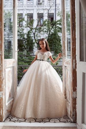 Rochie eleganta lunga, Dantela, Ivory [1]