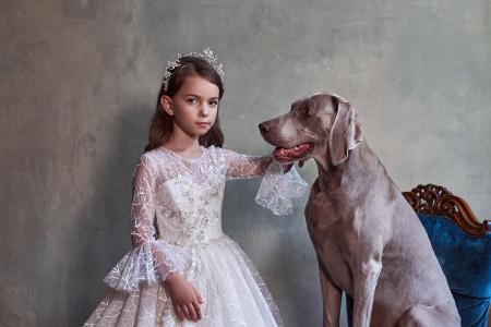 Rochie eleganta lunga, Dantela/Broderie, Alba [1]