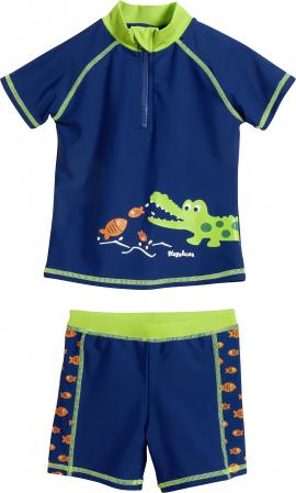 Costum de baie din doua piese, cu protectie  solara UV 50+