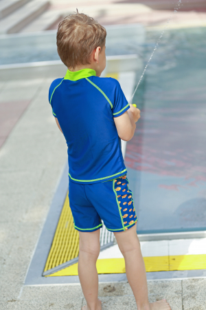 Costum de baie din doua piese, cu protectie  solara UV 50+3