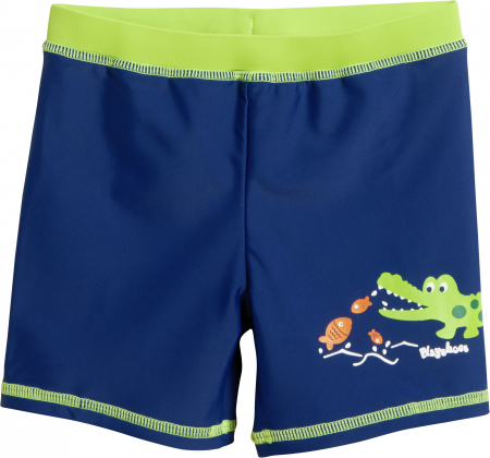 Slip de baie tip boxer, protectie UV50+, baieti, Albastru/Verde0