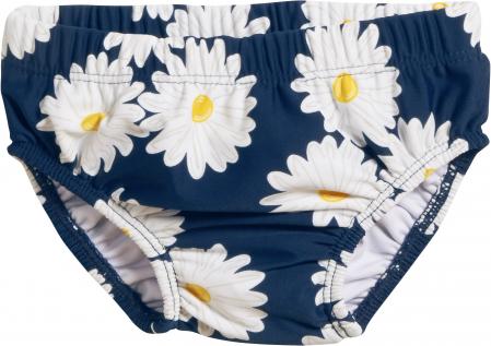 Slip bebe tip chilot, protectie UV 50+, fete, Albastru/Margarete0