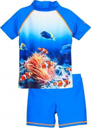 Costum de baie din 2 piese, protectie UV 50+, baieti, Albastru, Underwater [0]