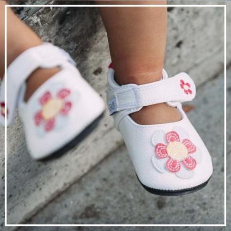 Pantofi casual, piele, fete, Alb/Floare, Isla2