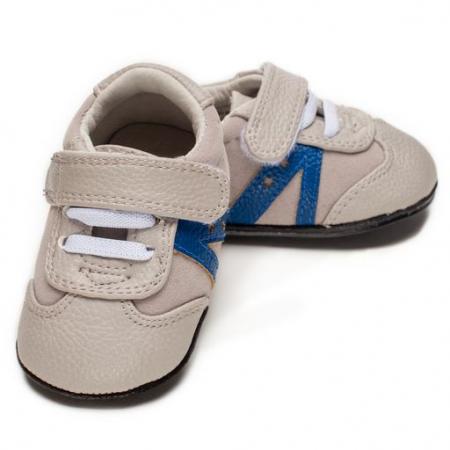 Pantofi sport, piele, baieti, Gri, Louis0