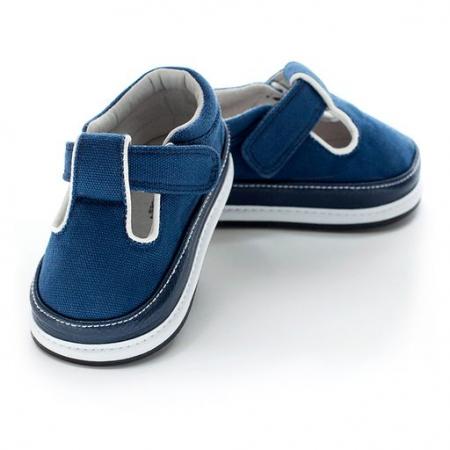 Pantofi casual, piele/textil_DAKOTA_baieti_Albastru0