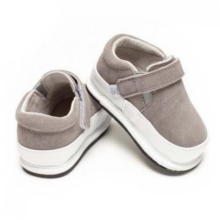 Pantofi casual, piele intoarsa_ROWAN_Gri1