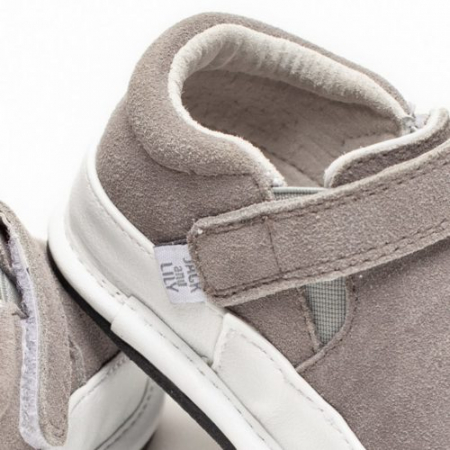 Pantofi casual, piele intoarsa_ROWAN_Gri2