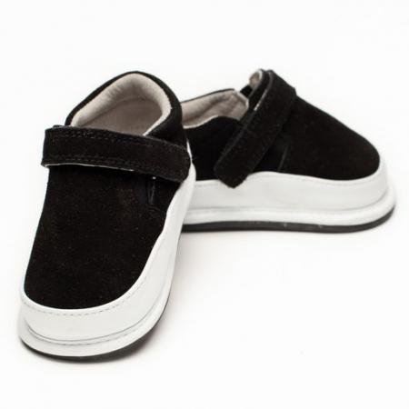 Pantofi casual, piele intoarsa, baieti, Negru, Sydney [0]