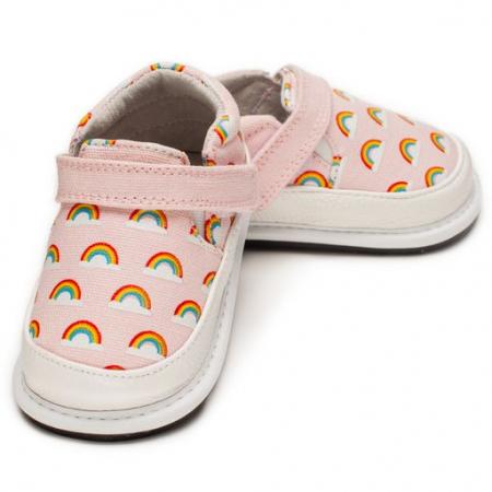 Pantofi casual, piele/textil_CALI_fete_Roz/Curcubeu0